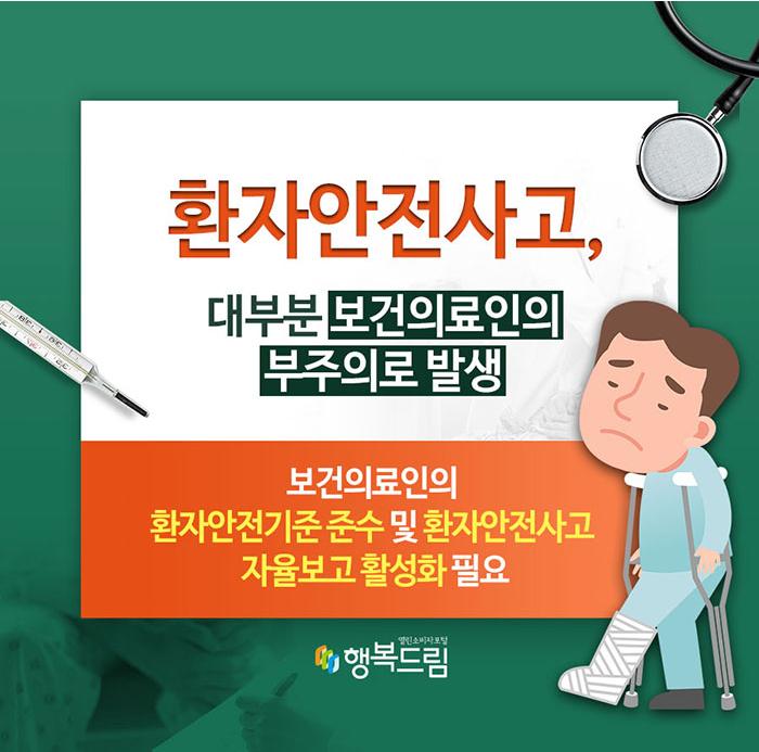환자안전사고, 대부분 보건의료인의 부주의로 발생
